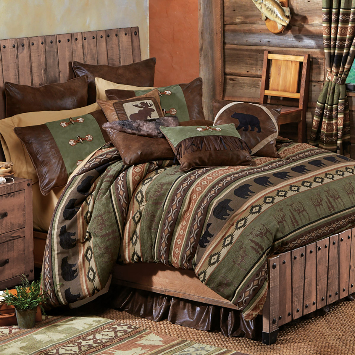 Image of: Rustic Bedding Theme