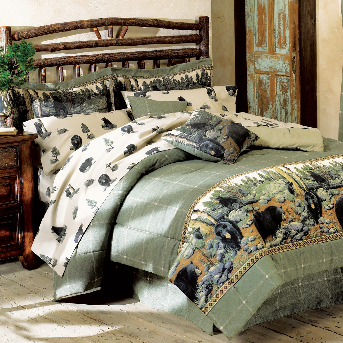 Image of: Rustic Forest King Size