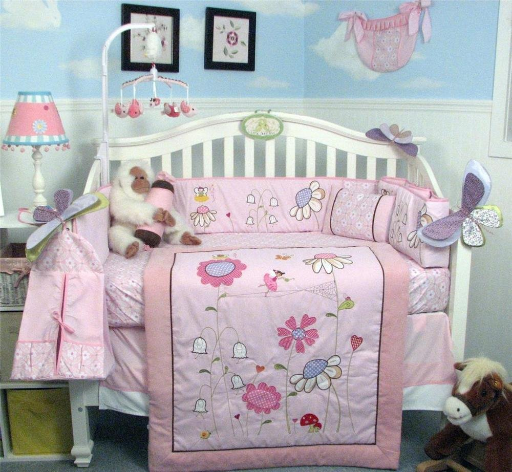 Image of: Soho Happy Fairy World Baby Crib Nursery Bedding Set 13 Beautiful Baby Crib Bedding Sets For Girls