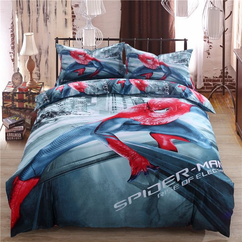 Image of: Spiderman Bed Set Twin Queen King Size Comforter The Downside Risk of Teen Boys Bedding That No One Is Talking About