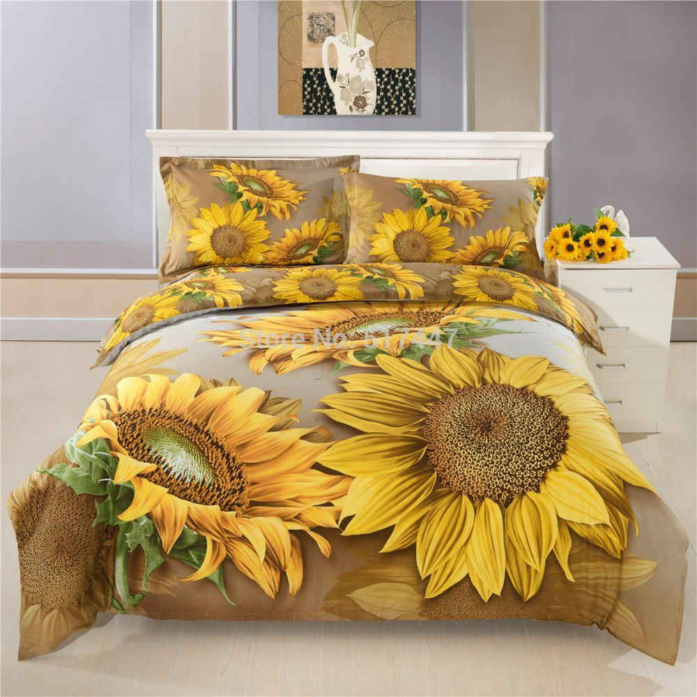 Image of: Sunflower Comforter Sets Full