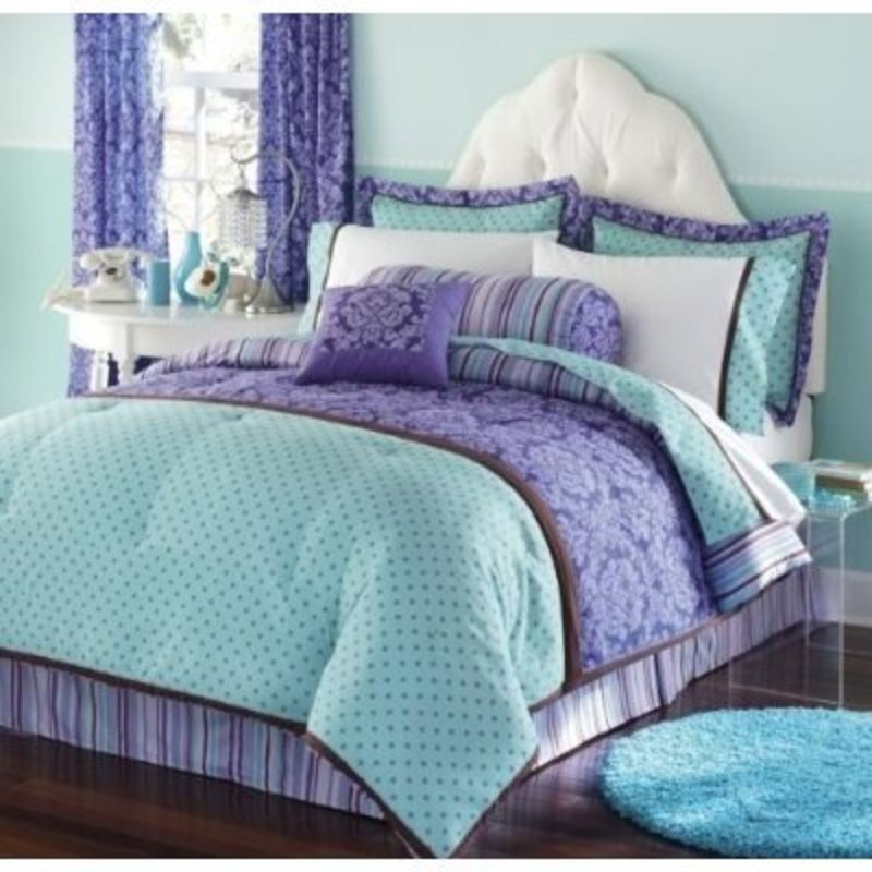 Image of: Teal Purple Bedding Turquoise Comforter Western Turquoise Bedding Set For Baby Theme