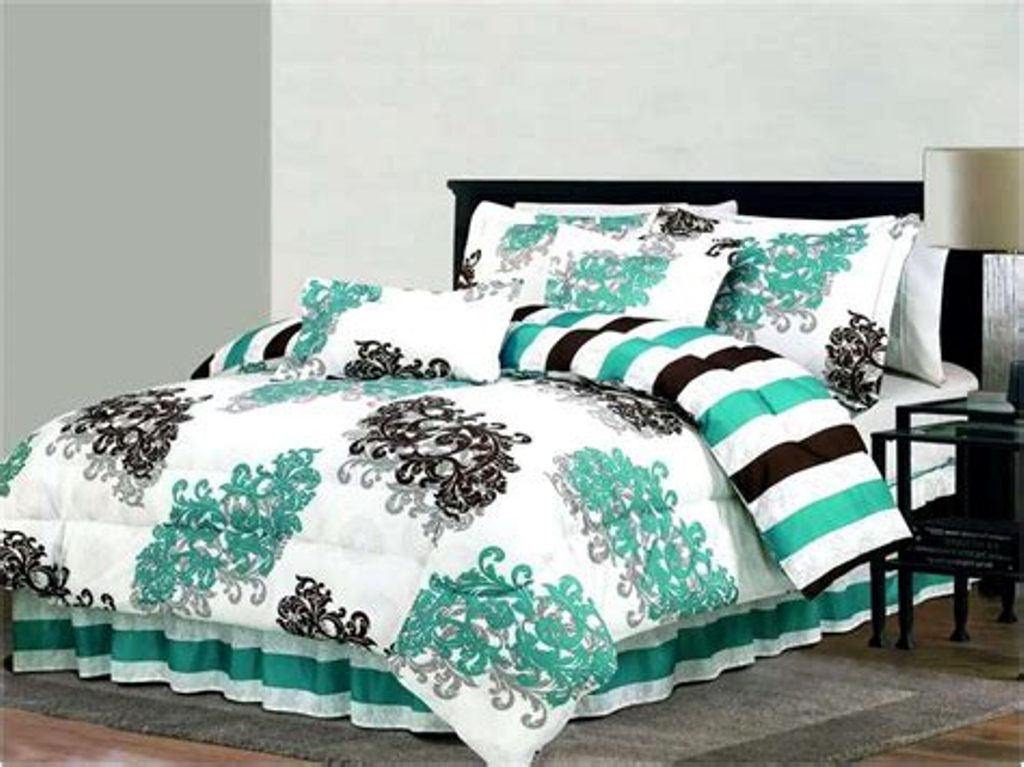 Image of: Turquoise And Brown Bedding