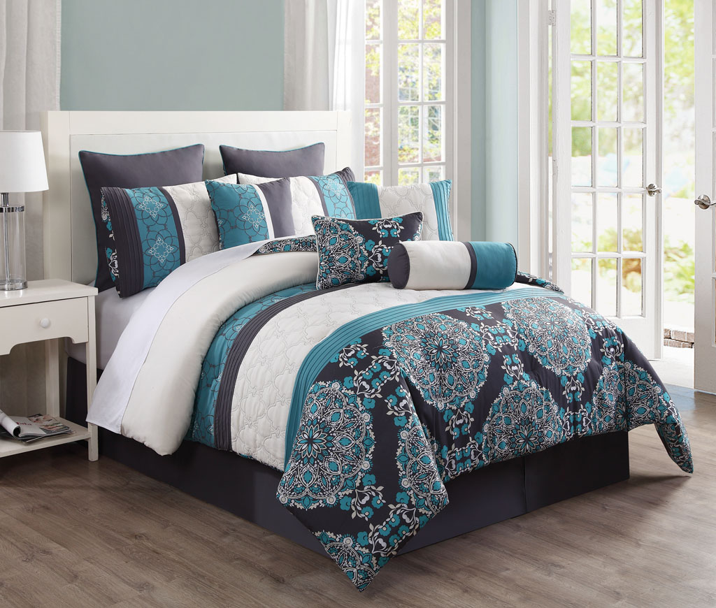 Image of: Turquoise And Gray Bedding
