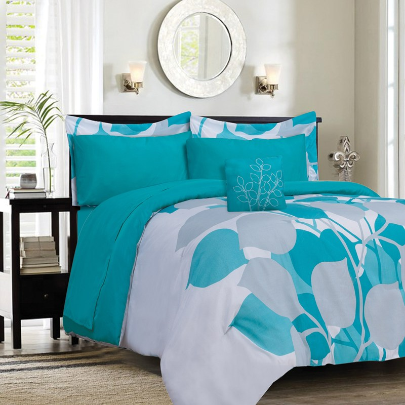 Image of: Turquoise Bedding Twin
