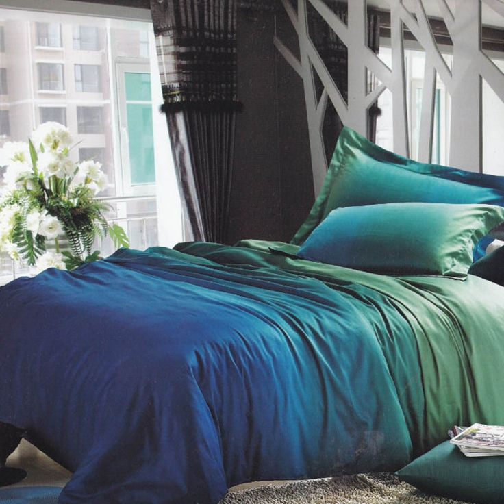 Image of: Wonderful Blue and Green Bedding Sets