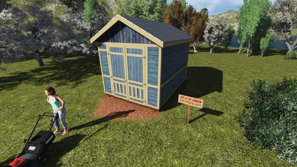 Image of: 10×14 Gable Shed Plan 28 Image 10×14 Gable Shed Plan Icreatable Sheds 10×14 Backyard Unique Horse Themed Bedding Sets For Children