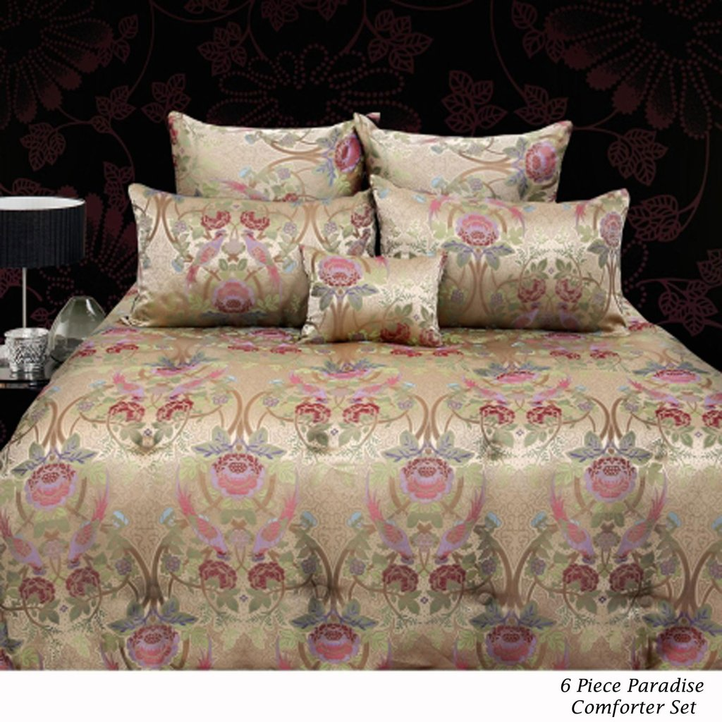 Image of: 6 Piece Oriental Style Comforter Set Grand Aterlier Relax and Escape Japanese Bed Set
