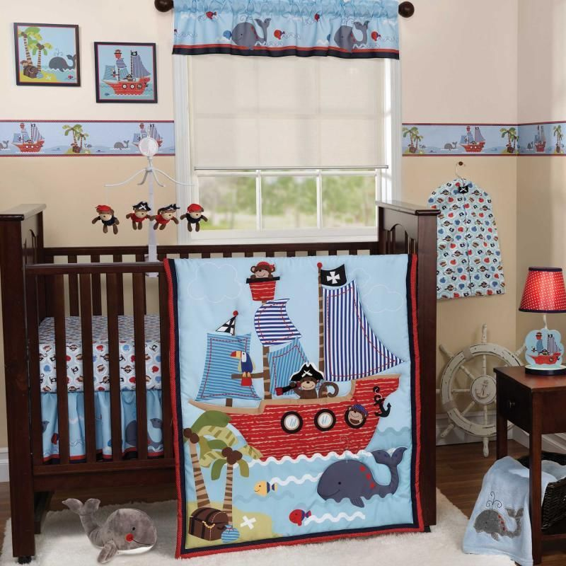 Image of: Anchor Crib Bedding