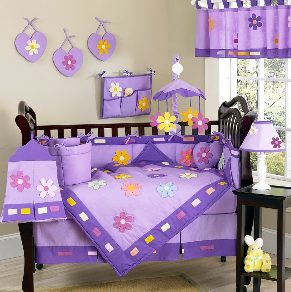 Image of: Baby Bedding Set Purple Home Design Idea Cute Elephant Baby Girl Bedding Theme