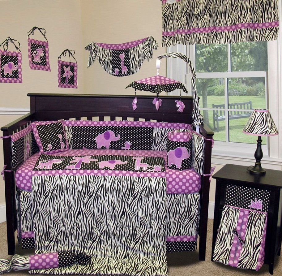 Image of: Baby Elephant Crib Bedding Home Design Idea Cute Elephant Baby Girl Bedding Theme