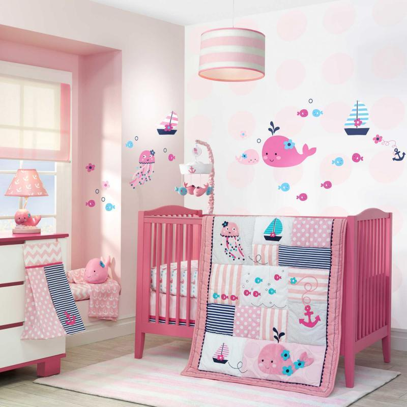 Image of: Baby Girl Nautical Nursery Bedding Ideas