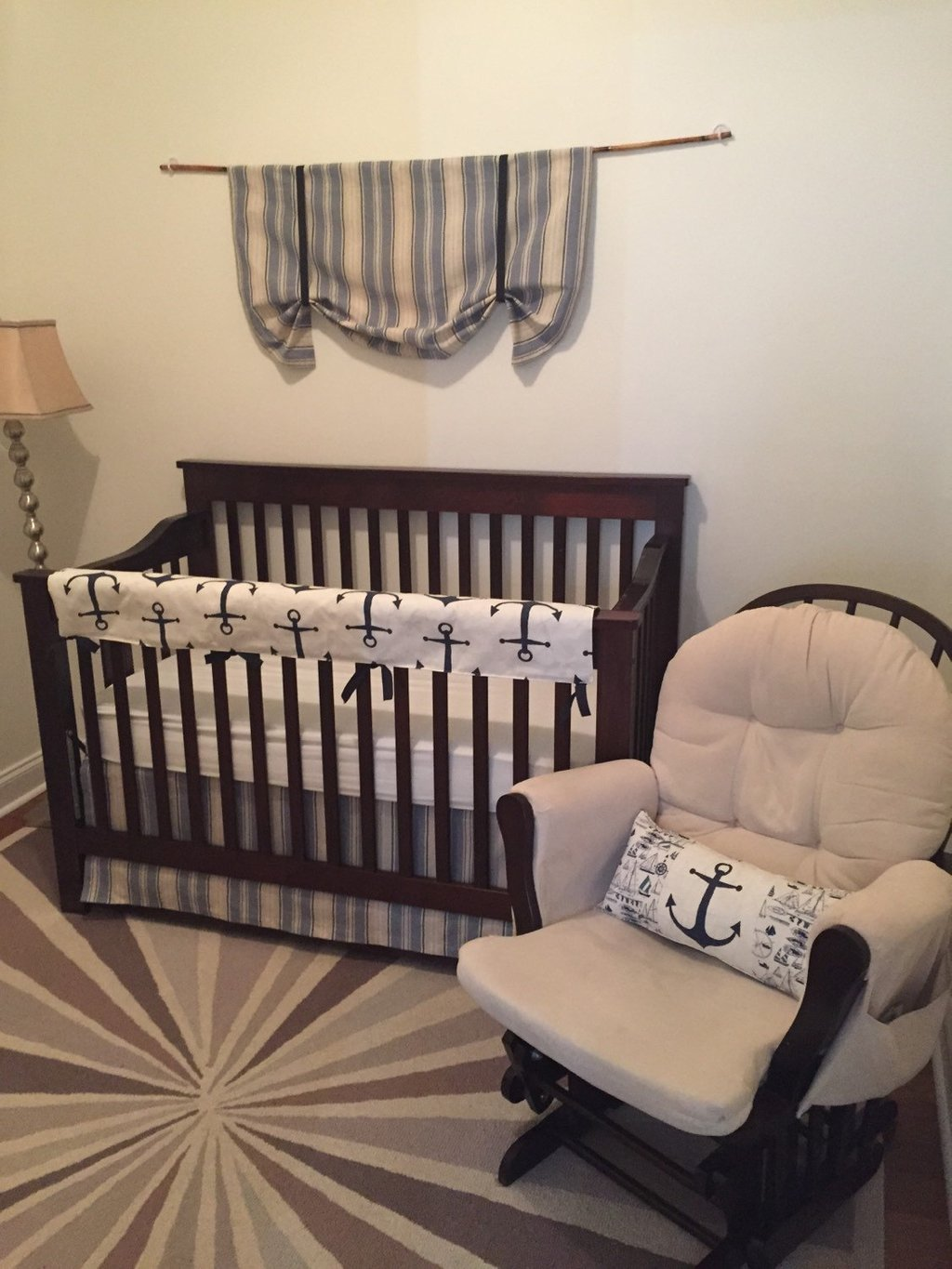 Image of: Boat Baby Bedding Anchor Baby Bedding Crib Set Nautical Nursery Bedding Ideas