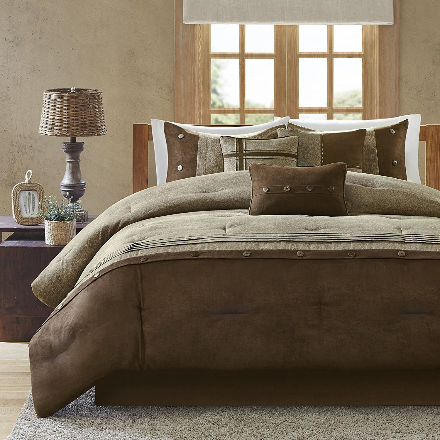 Image of: Brown Comforter Sets Walmart