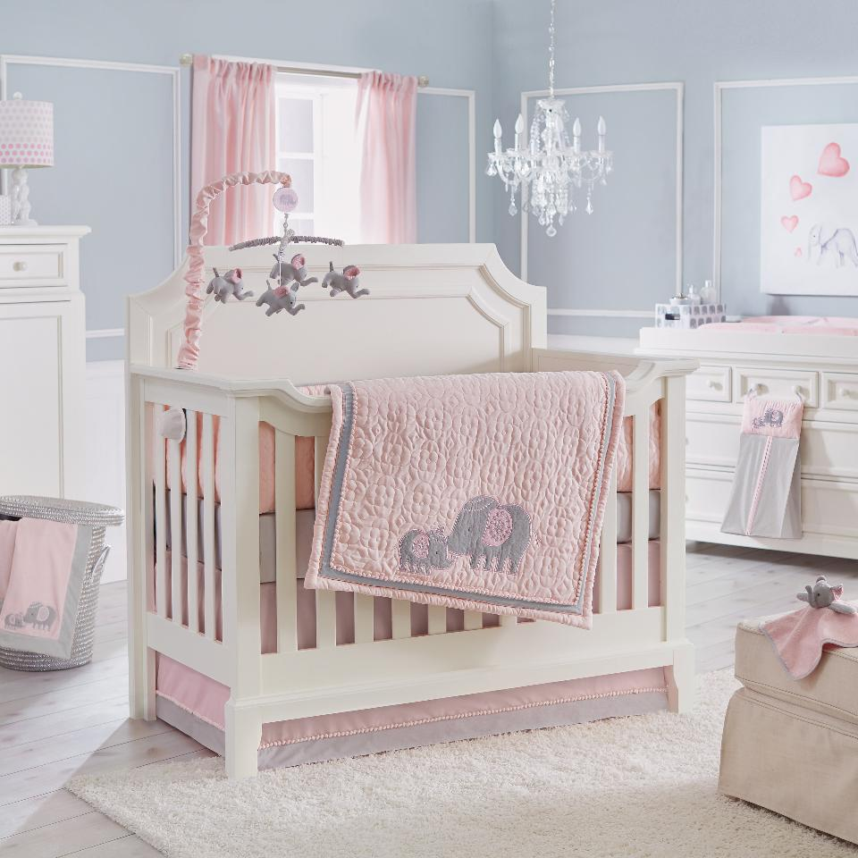 Image of: Cheap Elephant Crib Bedding