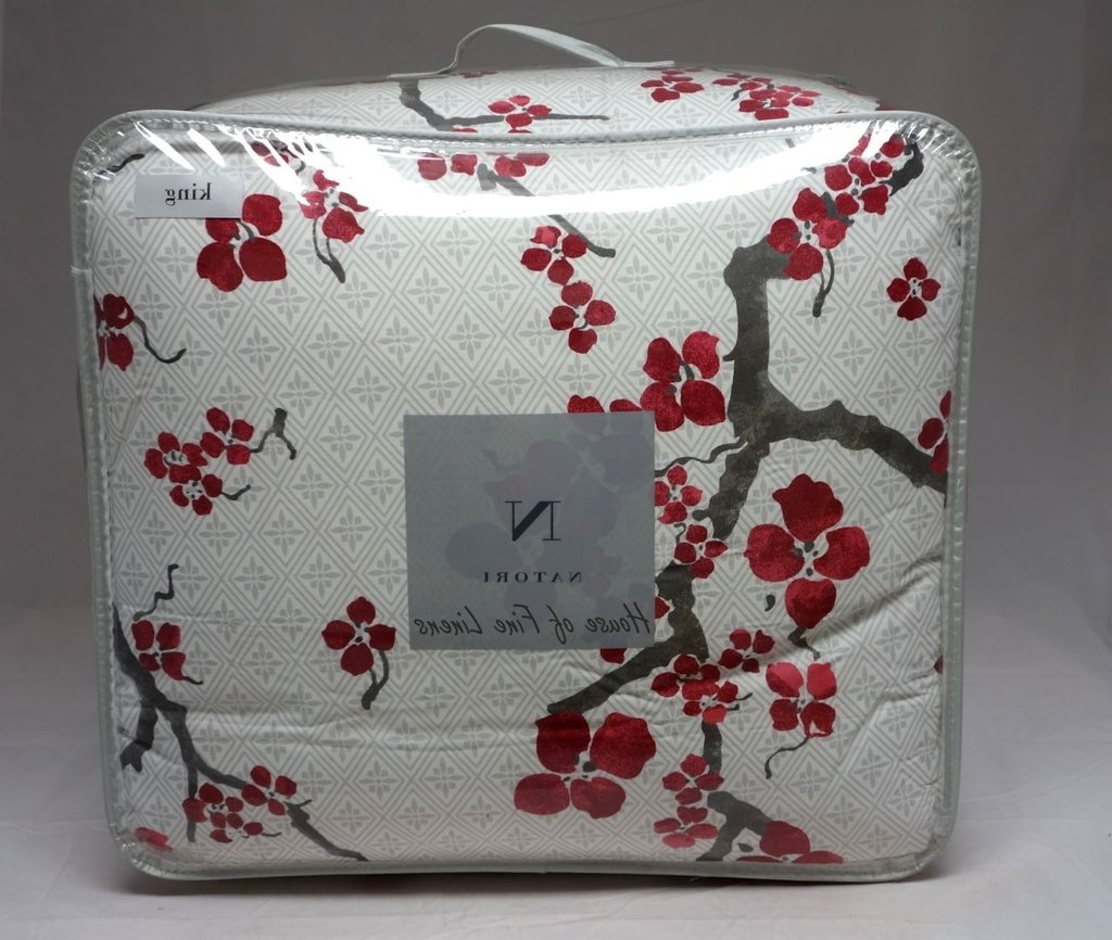 Image of: Cherry Blossom Bedding King Custom Set Furniture Relax and Escape Japanese Bed Set