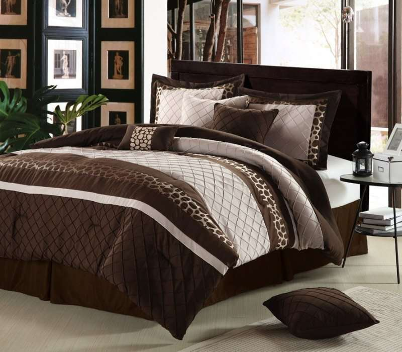 Image of: Chocolate Brown And Cream Bedding