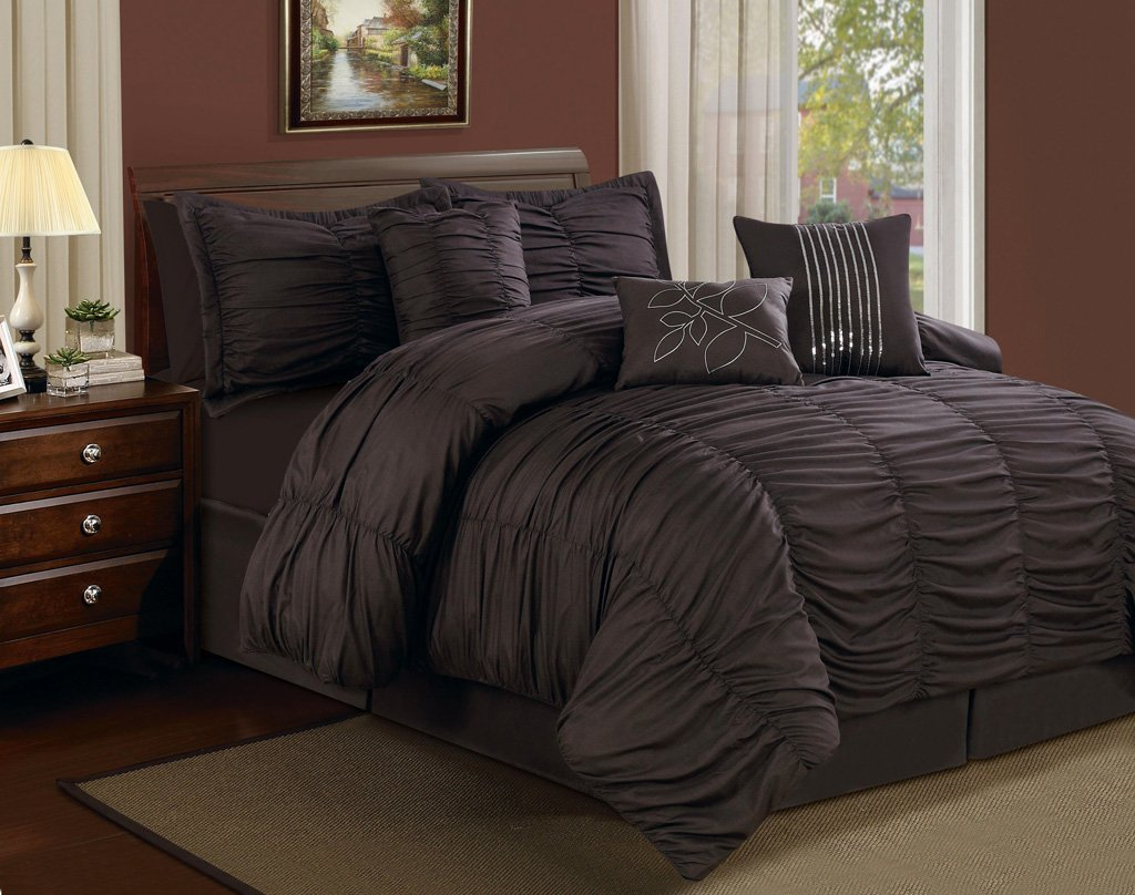 Image of: Chocolate Brown Comforter Set
