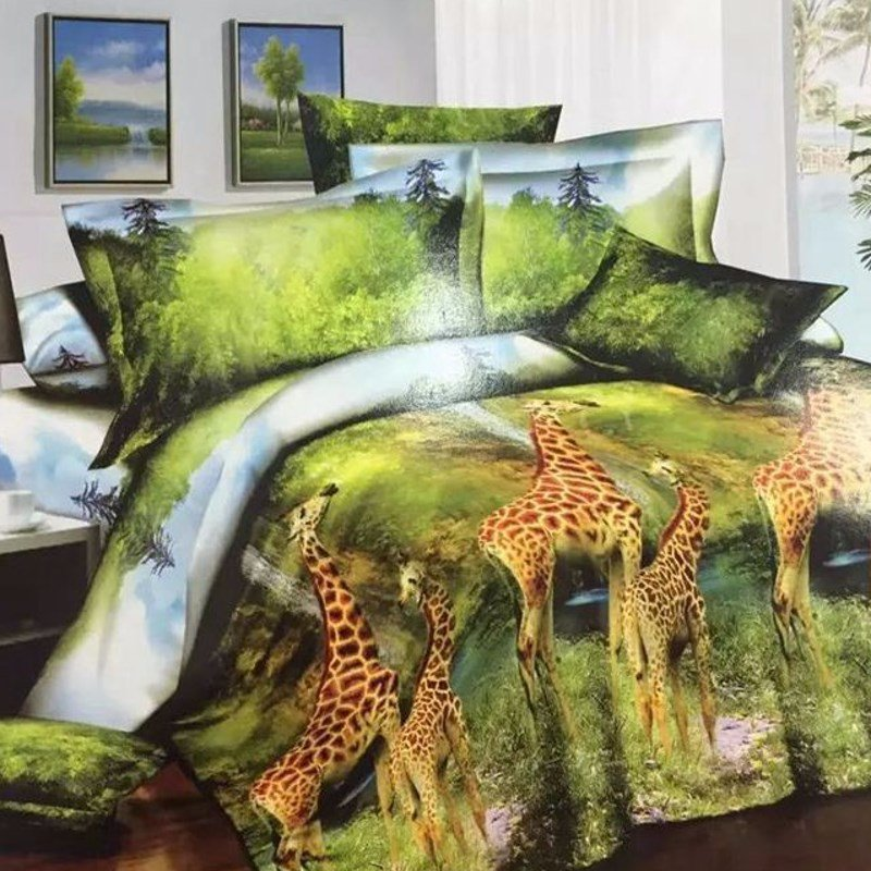 Image of: Compare Price Giraffe Quilt Online Shopping Buy Relax and Escape Japanese Bed Set
