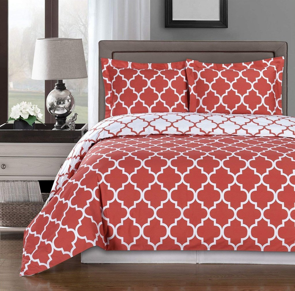 Image of: Coral Duvet Cover Set Ease Bedding Style Top Coral and Turquoise Bedding Guide!