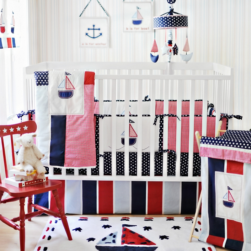 Image of: Cute Nautical Nursery Bedding Ideas