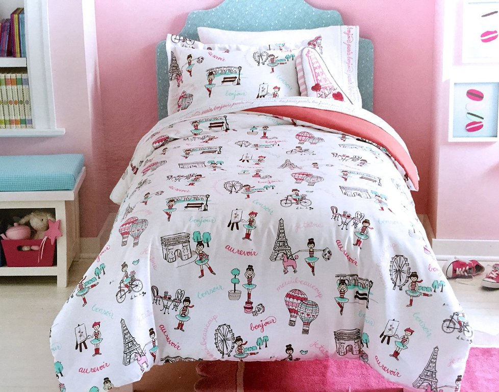 Image of: Cute Paris Bedding For Girl