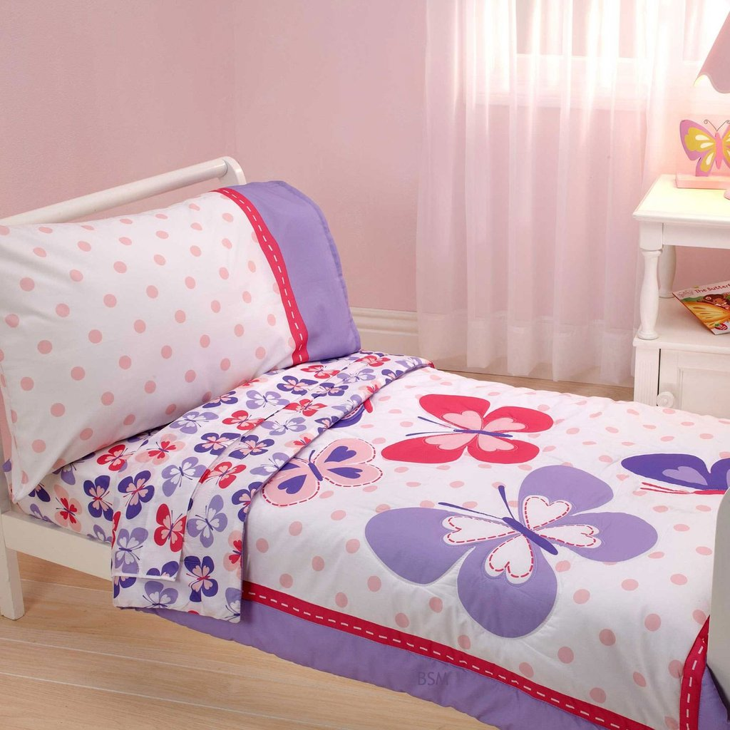 Image of: Disney Baby Toddler Girl Bedroom Minnie Mouse Bedding Set Combined Square White Customize Girl Toddler Bedding
