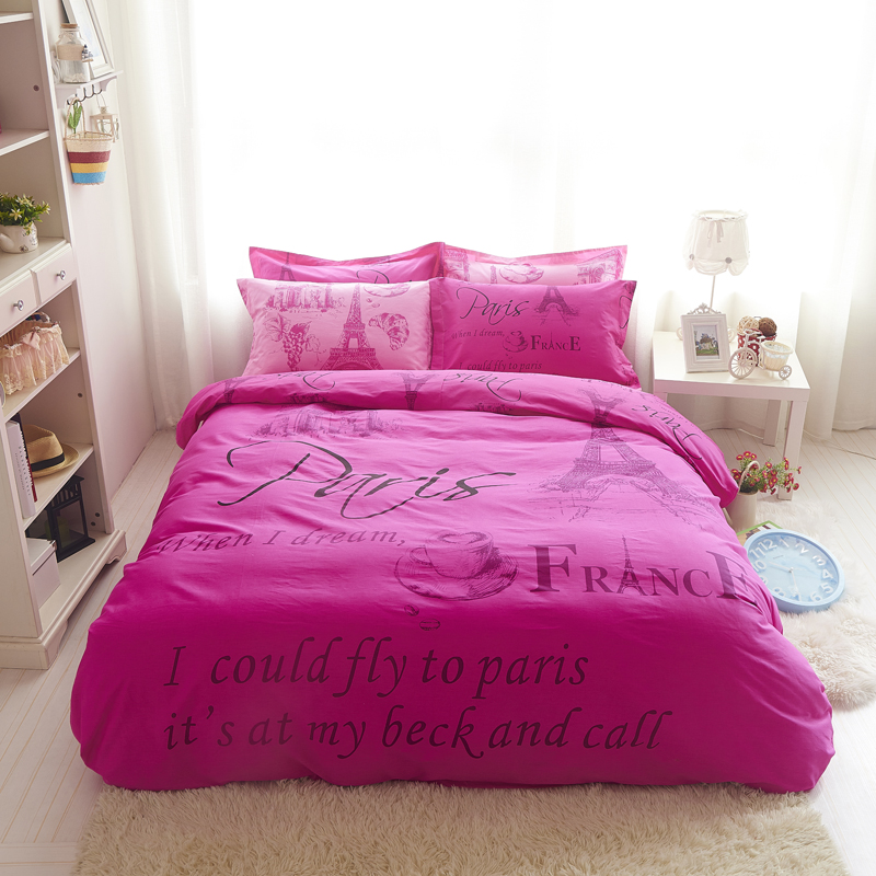 Image of: Eiffel Tower Bedding Full Size Designs