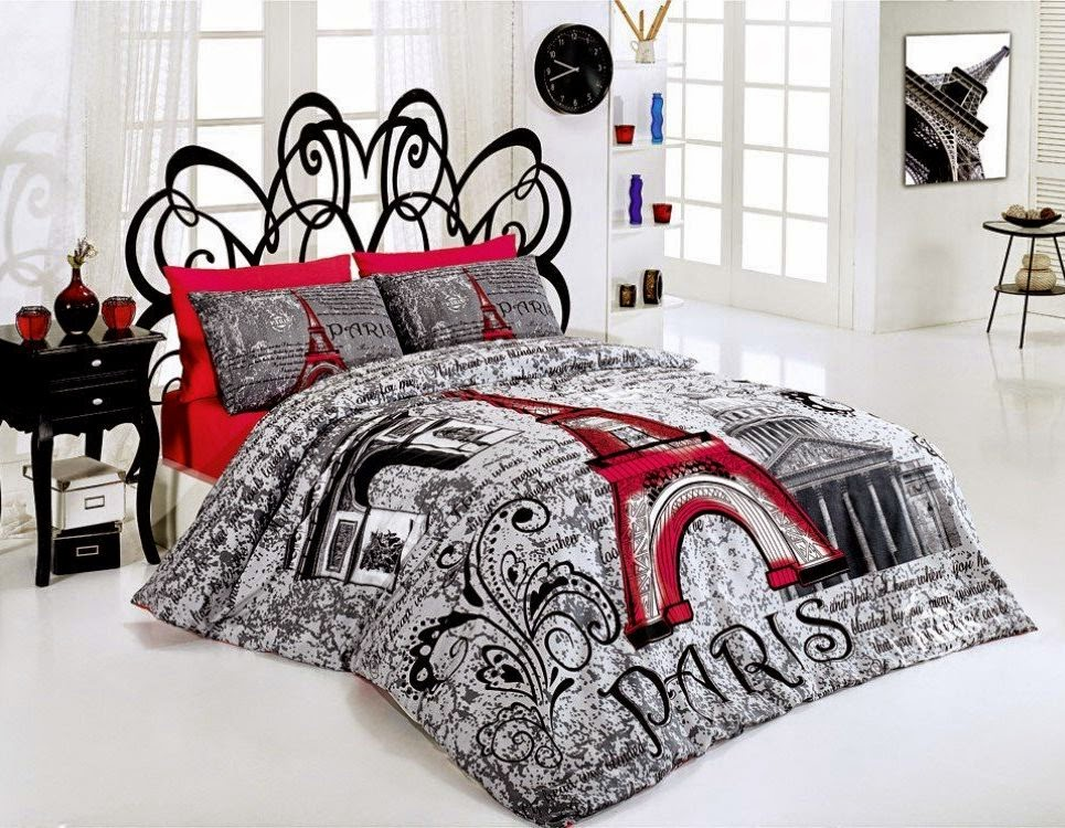 Image of: Eiffel Tower Bedding Target
