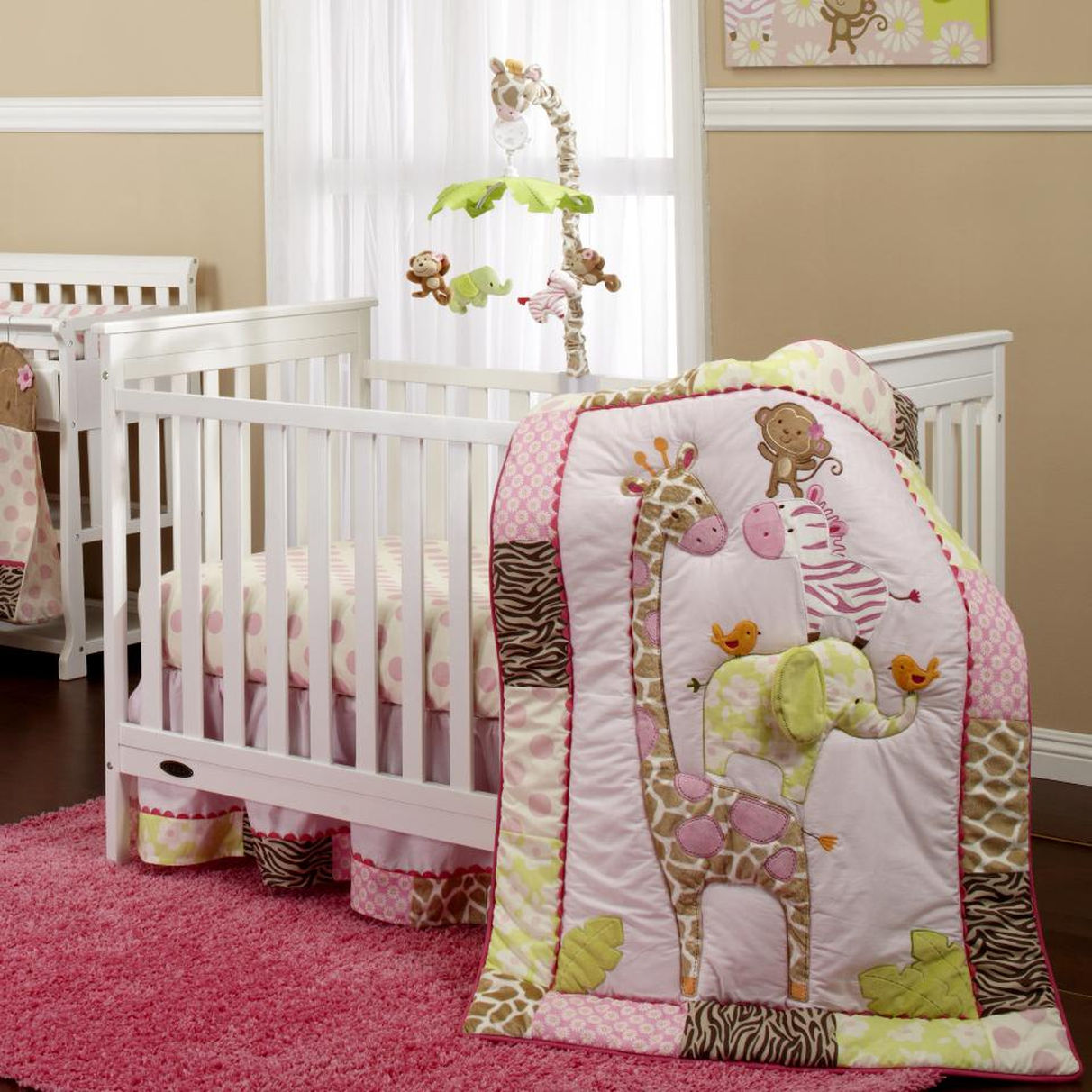 Image of: Elephant Crib Bedding For Girls