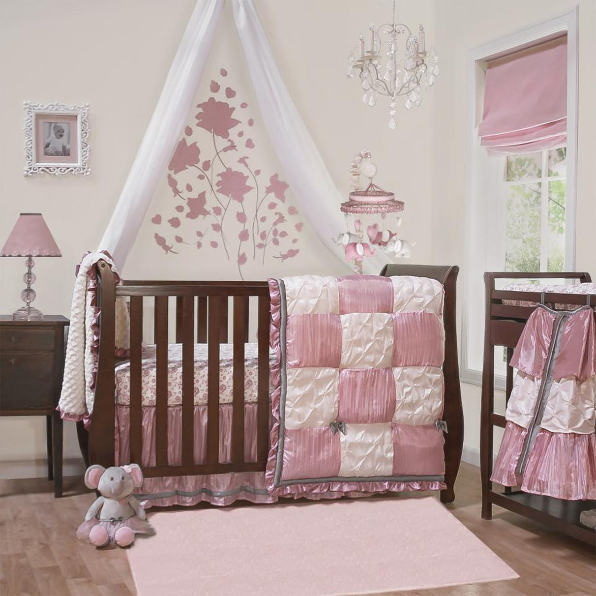 Image of: Elephant Crib Bedding Sets For Girls
