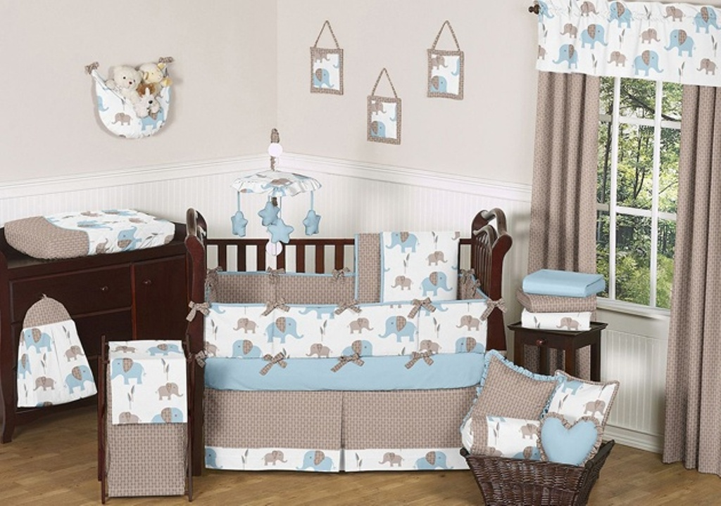 Image of: Elephant Crib Bedding Sets