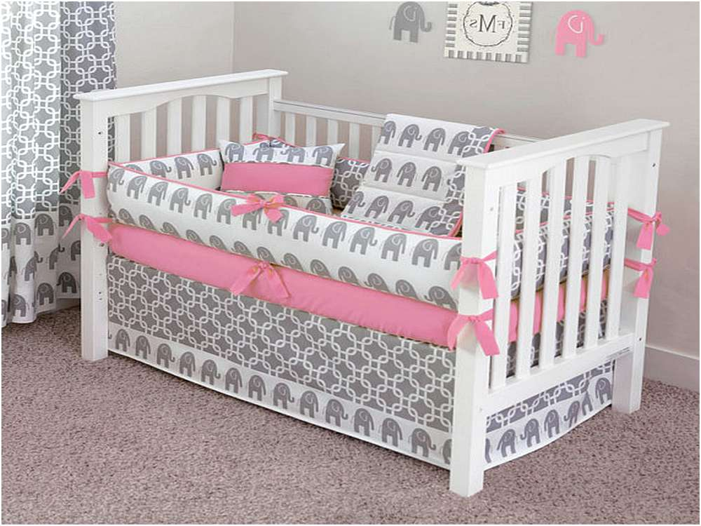 Image of: Elephant Crib Bedding Walmart