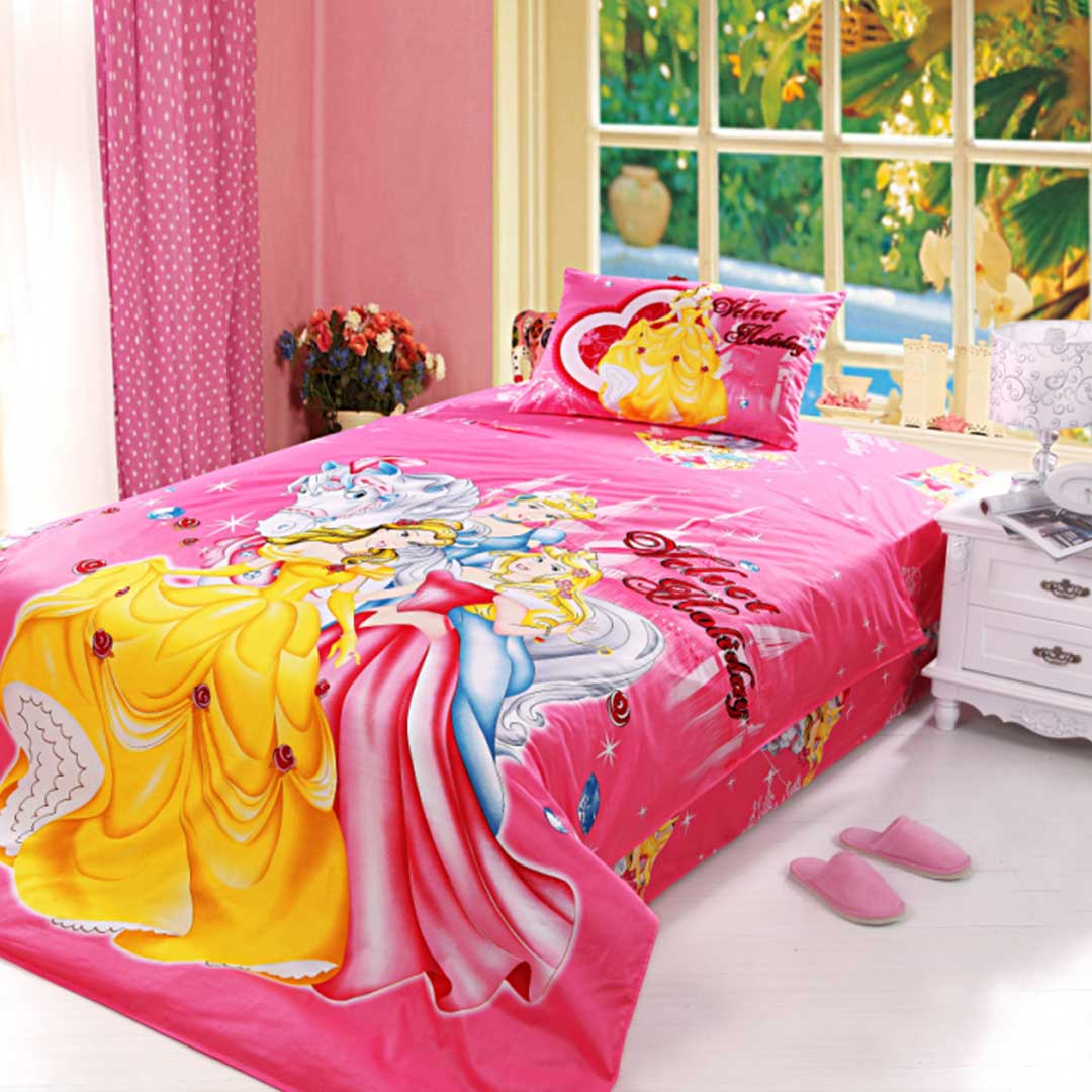 Image of: Frozen Bed Set Twin Pink