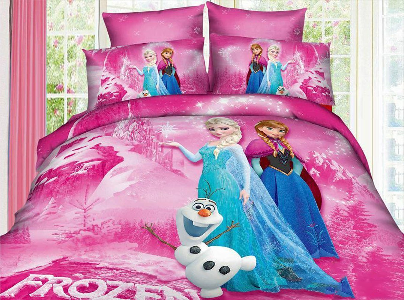 Image of: Frozen Bedding Set in Pink