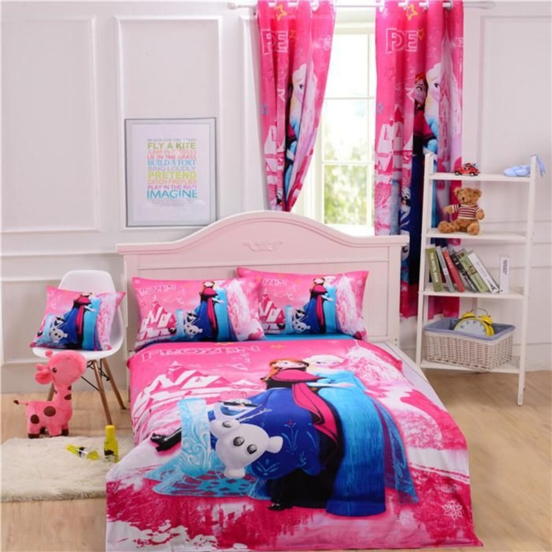 Image of: Frozen Toddler Bed With Curtains