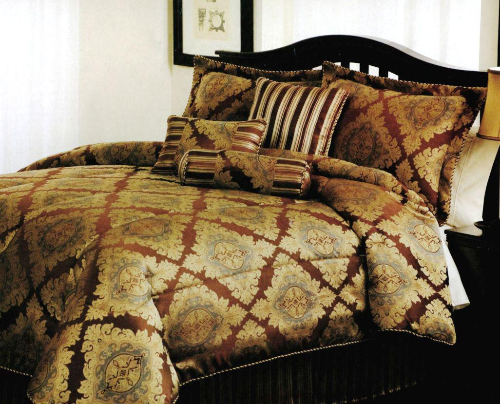Image of: Gold Luxury Italian Bed Linens