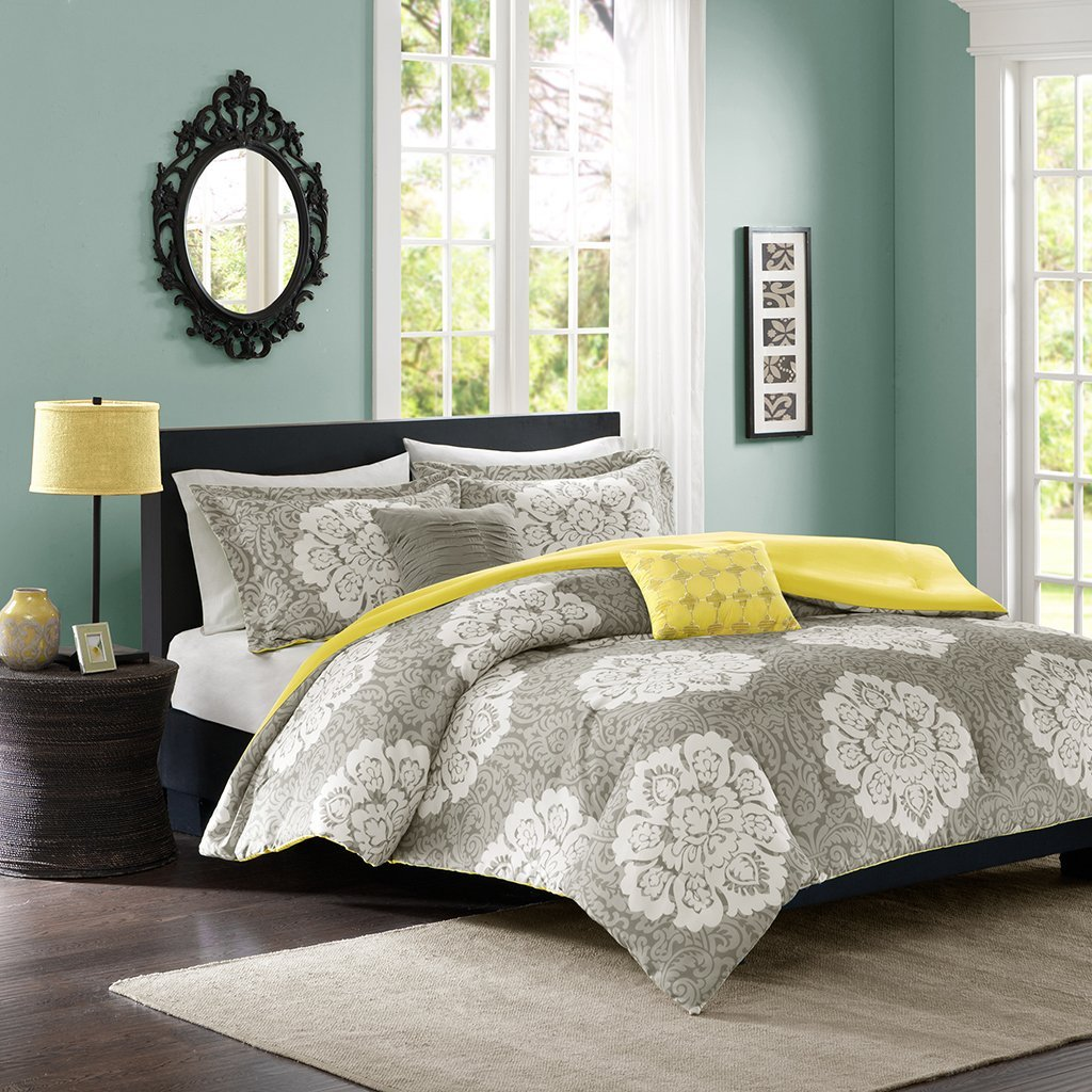 Image of: Gray Comforters Pattern