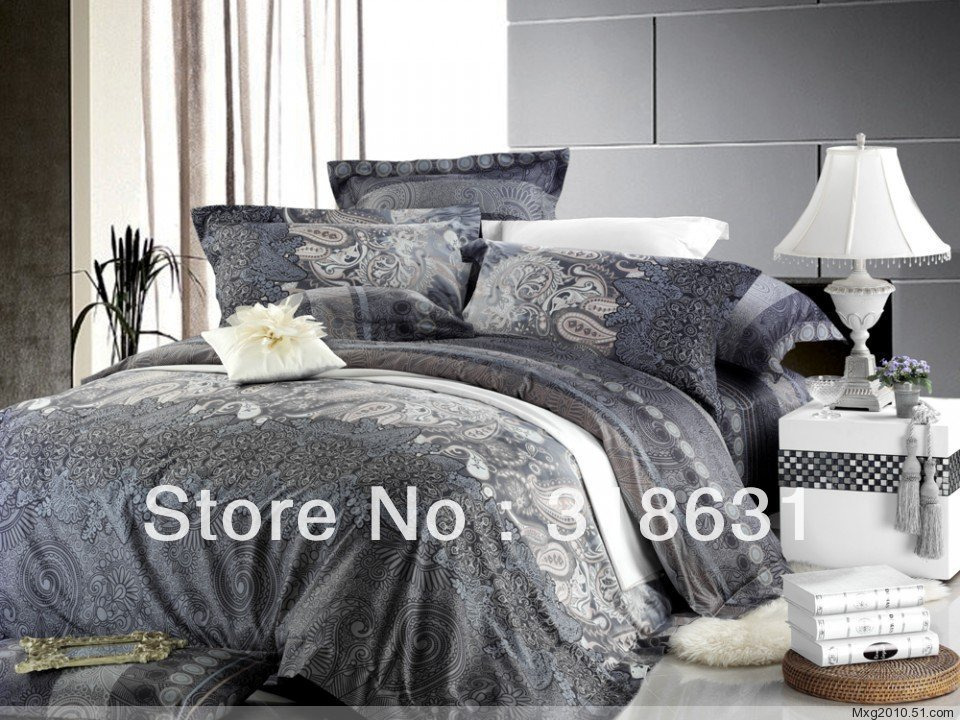 Image of: Gray Paisley Comforter Promotion Online Shopping Tips Decorate Elegant Bedding Sets Personalized
