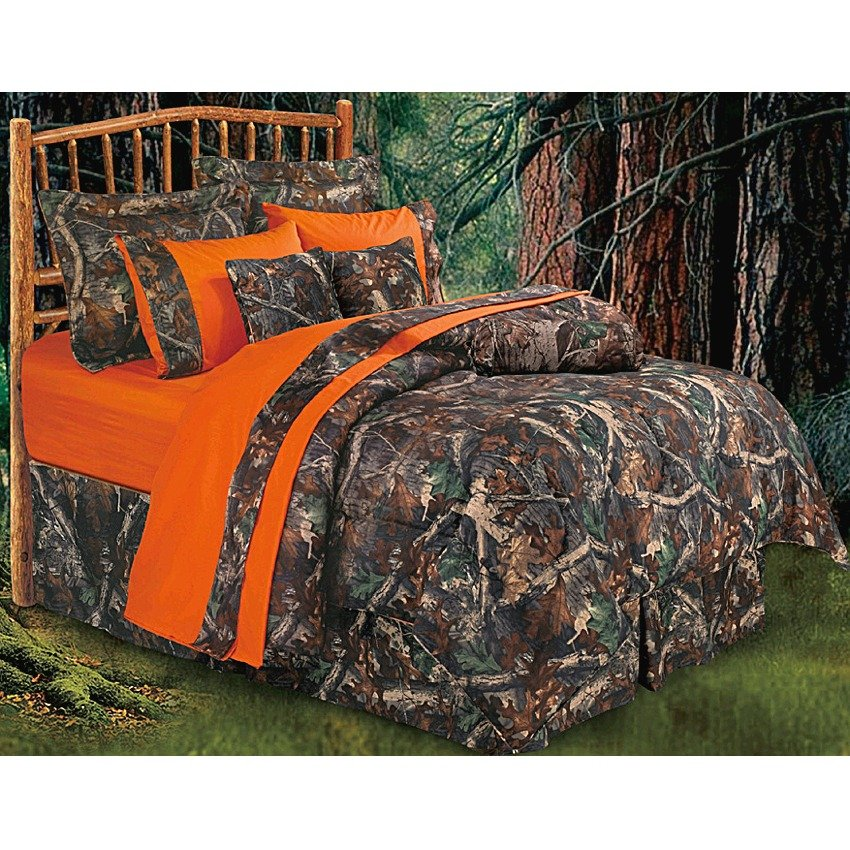 Image of: Hunter Hunting Camo Comforter Bedding Set Oak Get the Most Out of a Hunting Bed Sets