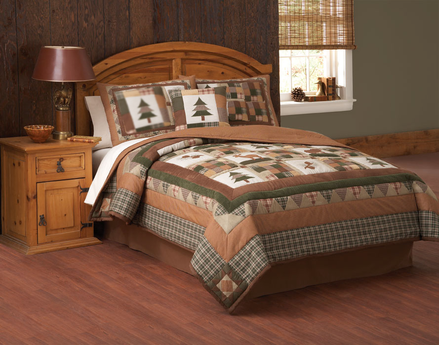 Image of: Hunting Bed Sets Mountain Trail Rustic Bedding Create Get the Most Out of a Hunting Bed Sets