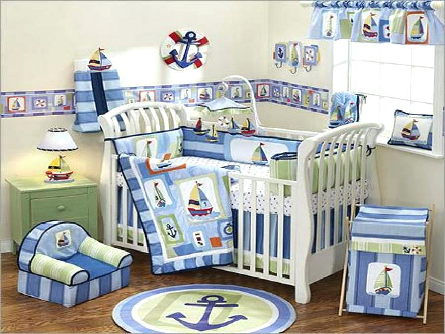 Image of: Nautical Crib Bedding for Boys Ideas