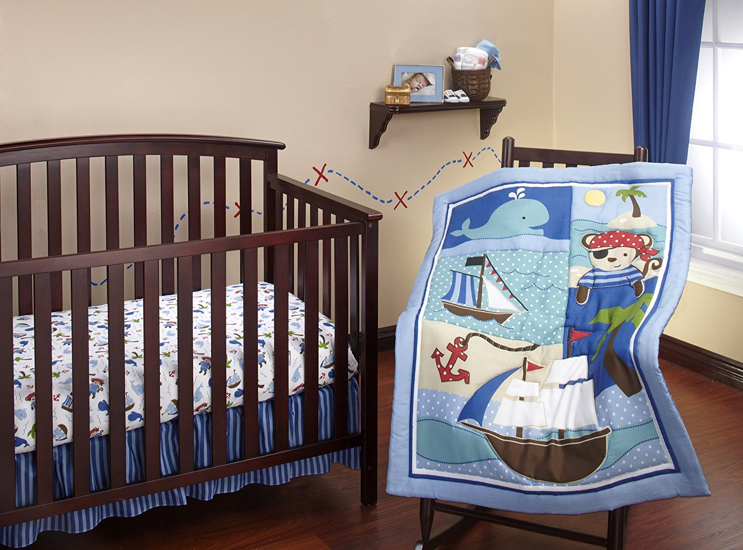 Image of: Nautical Crib Bedding for Boys