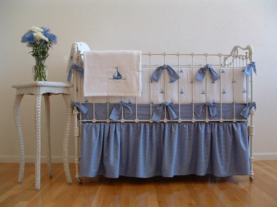 Image of: Nautical Crib Bedding Pottery Barn