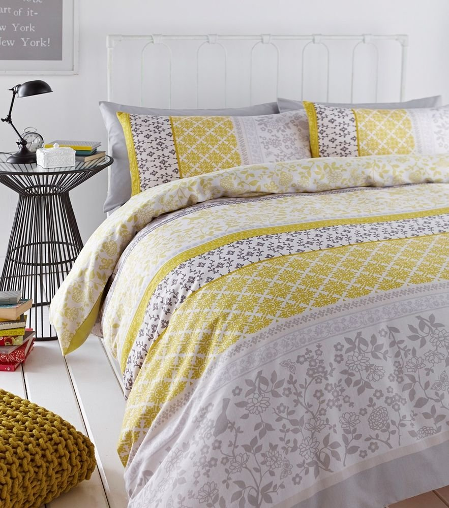 Image of: Oriental Bird Duvet Quilt Cover Set Reversible Single Relax and Escape Japanese Bed Set