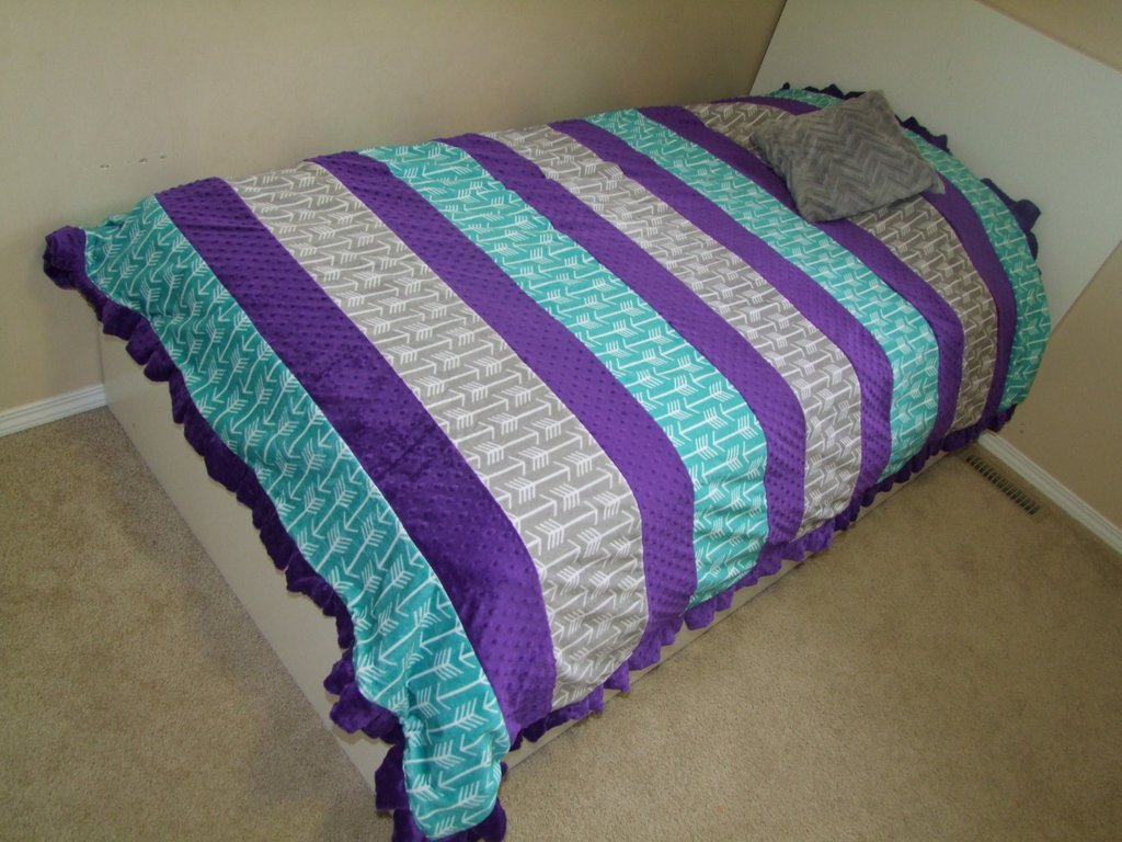Image of: Purple Teal Twin Bedding Purple Double Size Blanket Gray Purple Teal Bedding Sets For Girl