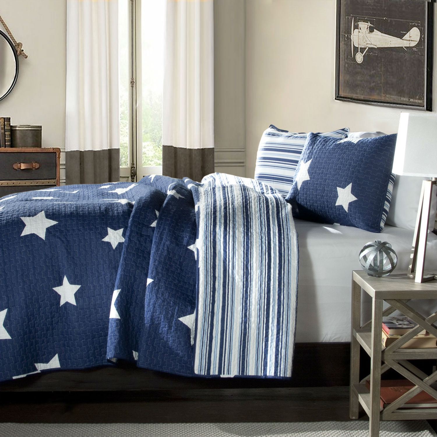 Image of: Queen Navy Star And Stripes
