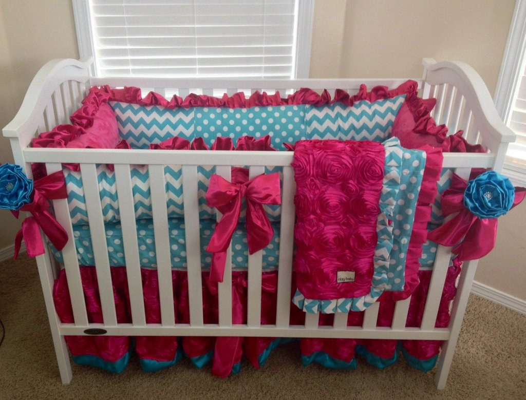 Image of: Red Baby Bedding Baby Nursery Decor Custom Selling Top Red Purple Crib Bedding Sets