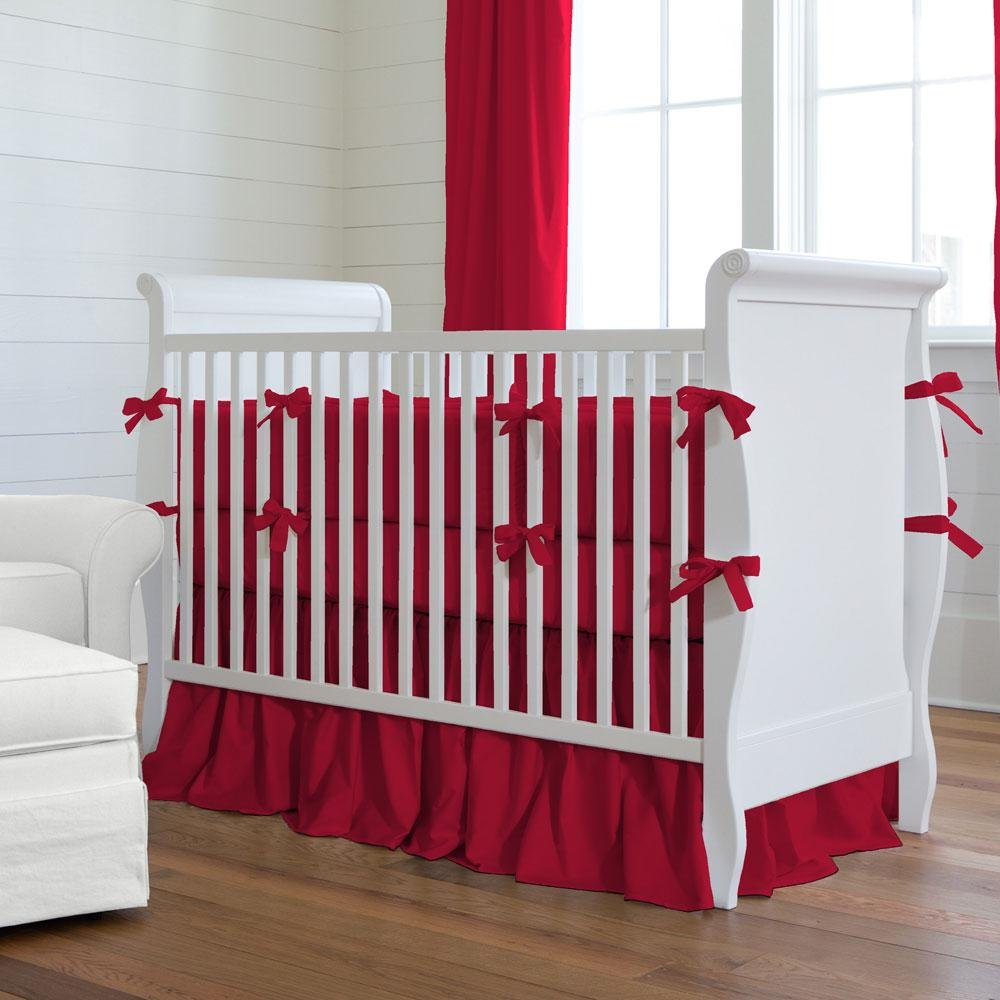 Image of: Red Baby Bedding Solid Red Crib Bedding Collection Purple Crib Bedding Sets