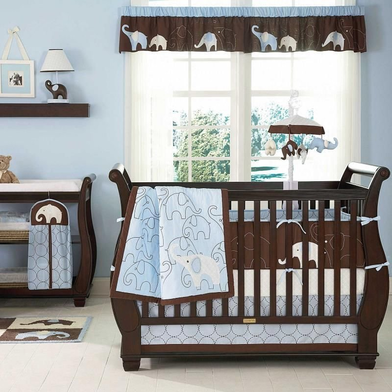 Image of: Rustic Baby Cribs Product Details Rustic Baby Crib Changing Table Attached Cute Elephant Baby Girl Bedding Theme